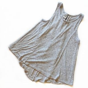 Anthro Akemi + Kin Gray Ribbed Lace Back Tank -EUC